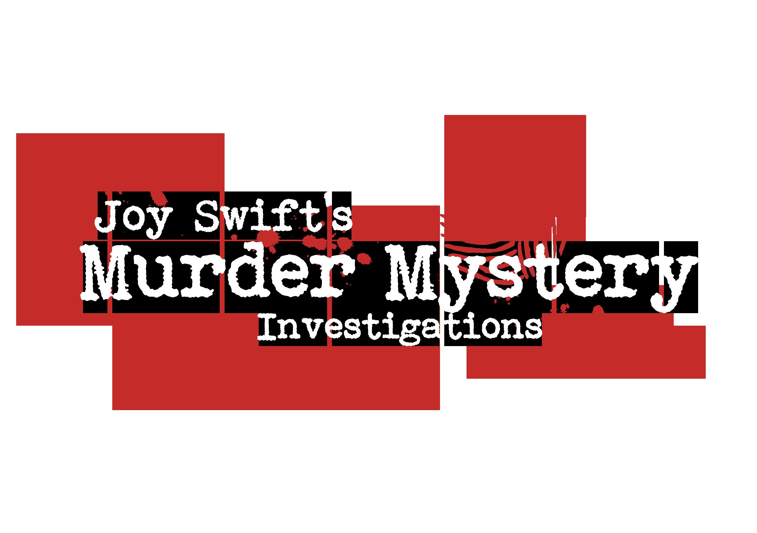 Murder Mystery Investigations logo white